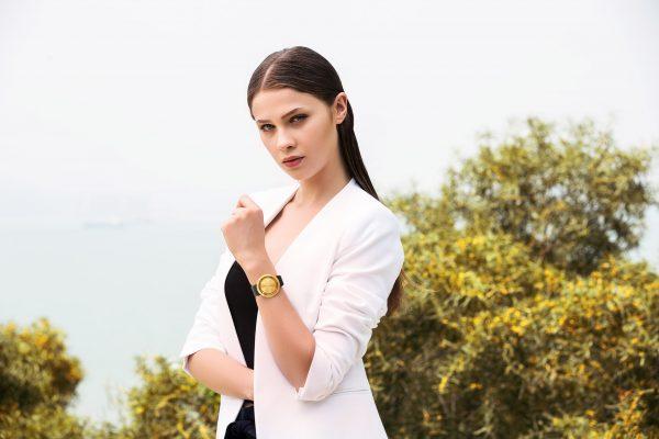 lavaro abacus gold glanz designer armbanduhr